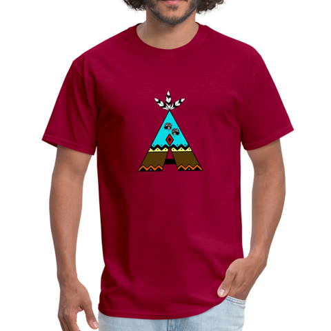 Black Bear Paws Tipi with Fashion Ayasha Logo Men's T-Shirt