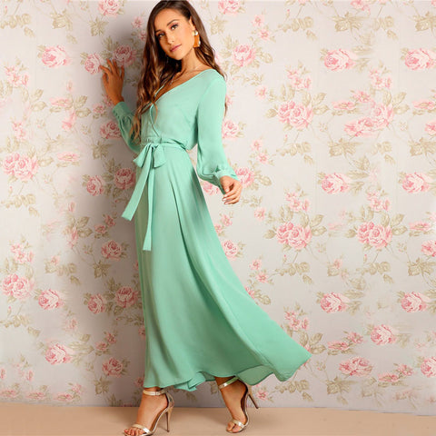 Mint Green Elegant Maxi Dress