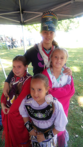 Ayasha at the Grand River Powwow with Family - 1