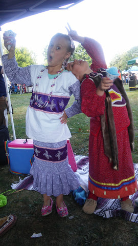 Ayasha at the Grand River Powwow with Family - 2