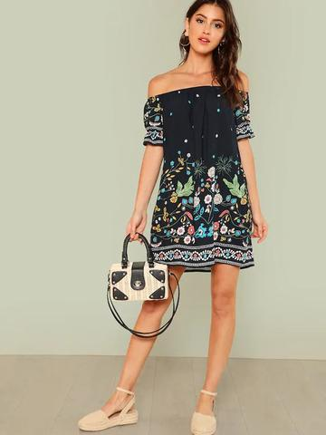 Woodlands Floral Dress