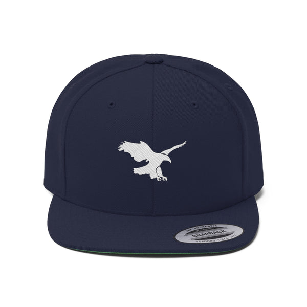 White Eagle Native American Unisex Flat Bill Hat