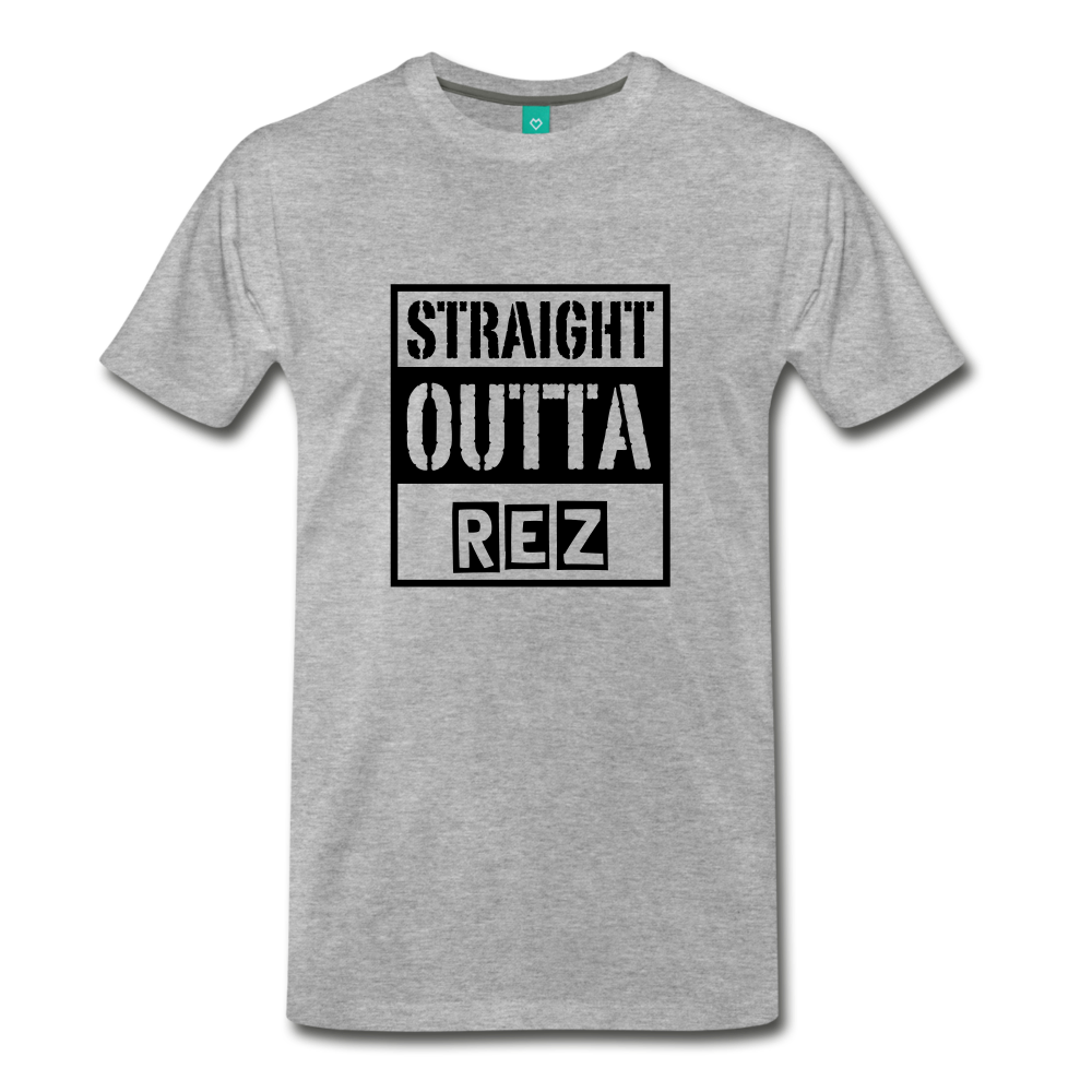 Straight Outta REZ Men's Premium T-Shirt - heather gray