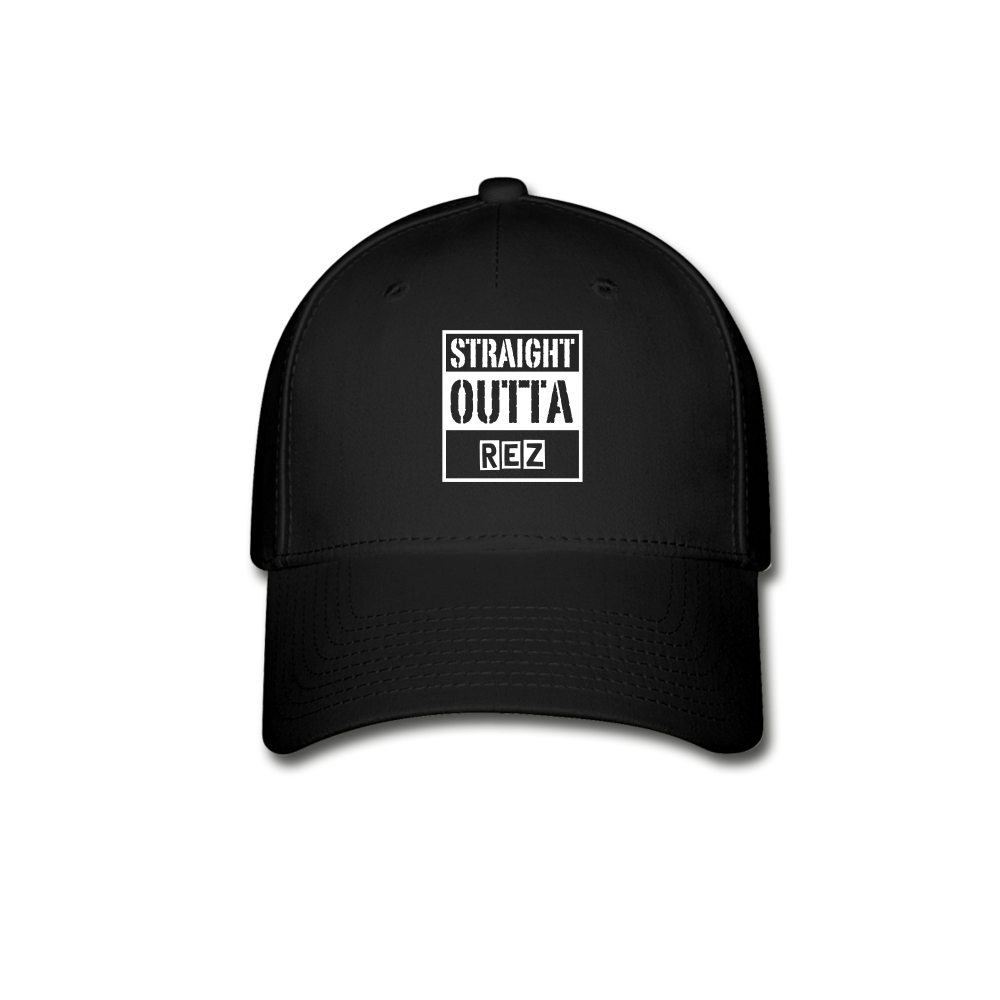 Straight Outta Rez Baseball Cap - black