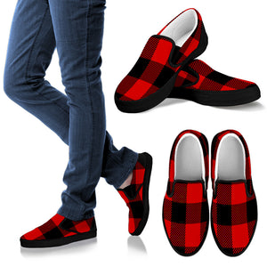 Red and Black Buffalo Check Plaid Women