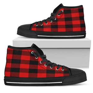 Mens plaid hightop shoes