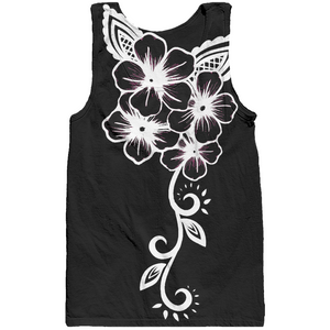 Fashion Ayasha Indigenous Flowers Black Women Performance Tank Top