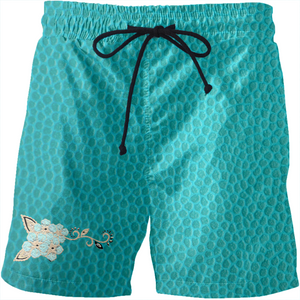 Turquoise Fashion Ayasha Men's Swim Shorts
