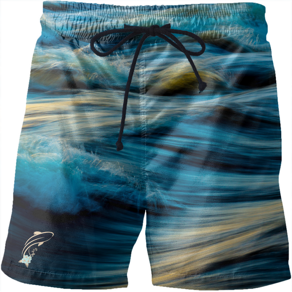 Fashion Ayasha Fish Logo Water Men's Swim Trunks