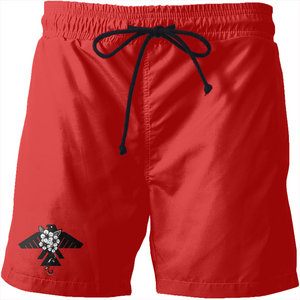 Fashion Ayasha Thunderbird Logo Swim Trunks