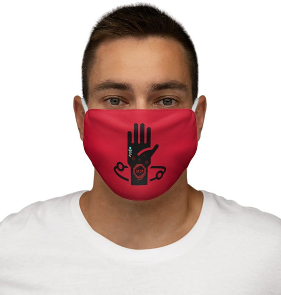 Stop the Spread Red Snug-Fit Polyester Face Mask