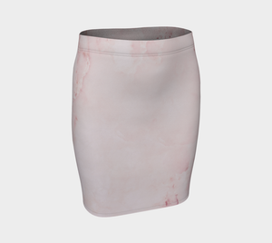Pink Marble Rose Textured Women's Pencil Skirt