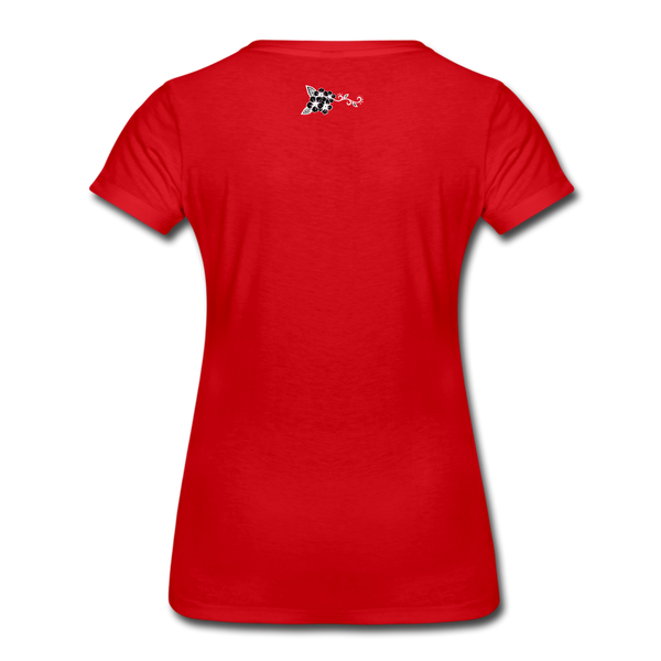 Straight Outta Rez Women's Premium T-Shirt - red