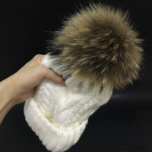 Women's Velvet Fleece Beanie Winter Hat