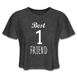 Best Friend 1 Women's Cropped T-Shirt - deep heather