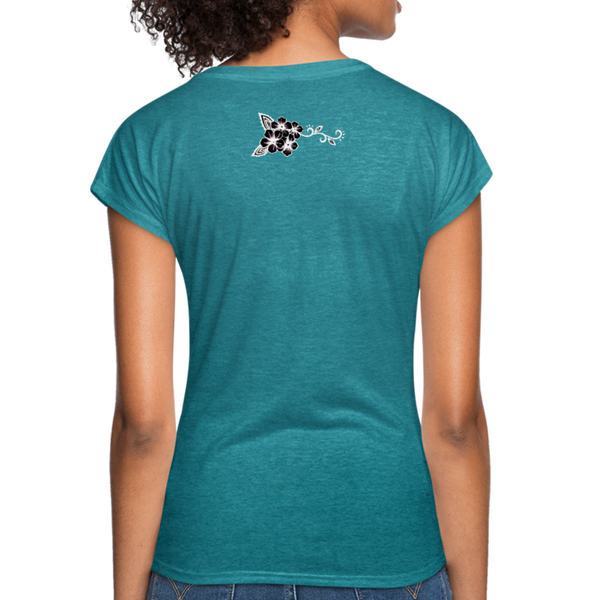 Bead Hard of Go Home Women's Tri-Blend V-Neck T-Shirt - heather turquoise