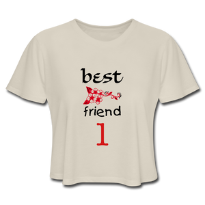 Best Friends 1 Women's Cropped T-Shirt - Dust