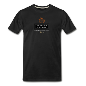 Men's Premium Organic Pumpkin T-Shirt - black
