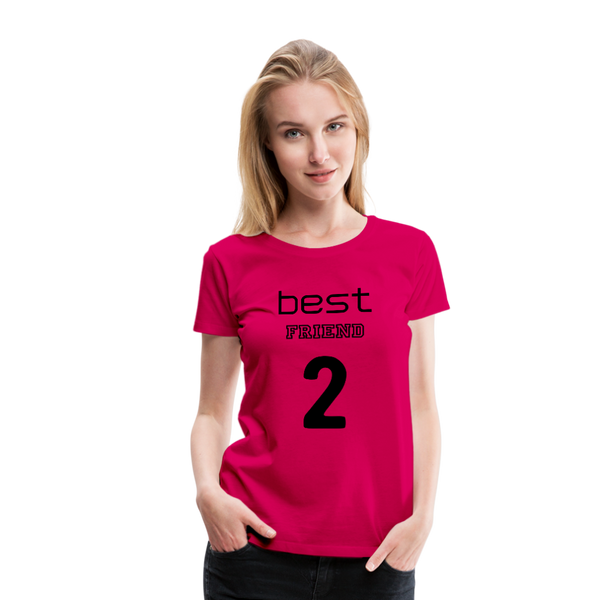 Best Friend 2 Women's Premium T-Shirt - dark pink