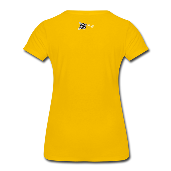 Straight Outta Rez Women's Premium T-Shirt - sun yellow