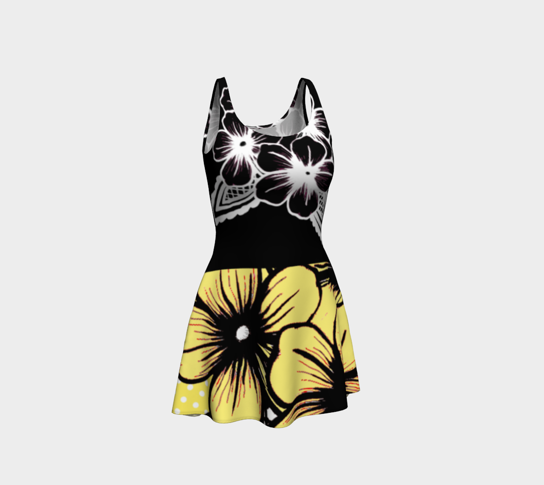 Yellow Vintage Flowers Dress - https://www.ayashaloyadesigns.com/products/indigenous-black-ayasha-logo-yellow-vintage-flowers-dress