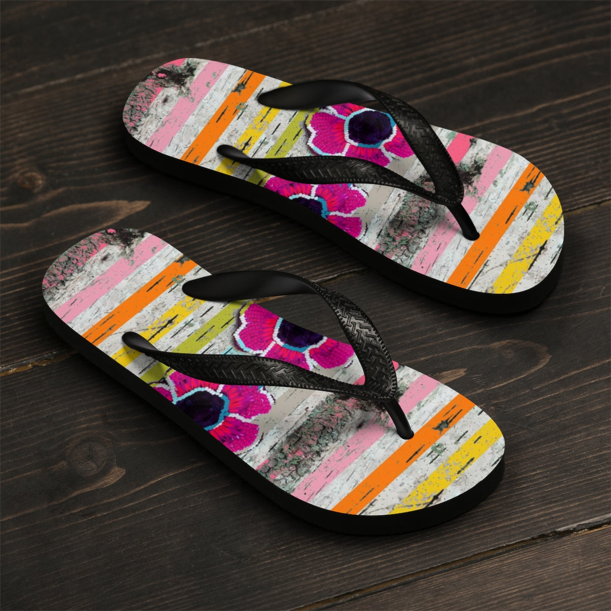 Striped Floral Fashion Sandals - https://www.ayashaloyadesigns.com/collections/indigenous-woodlands-collection-of-shoes