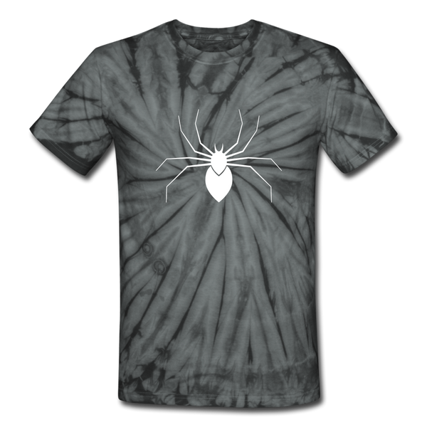 Scary Spider Unisex Tie Dye T-Shirt - spider black