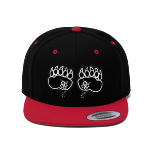 Fashion Ayasha Bear Paws Logo Unisex Flat Bill Hat