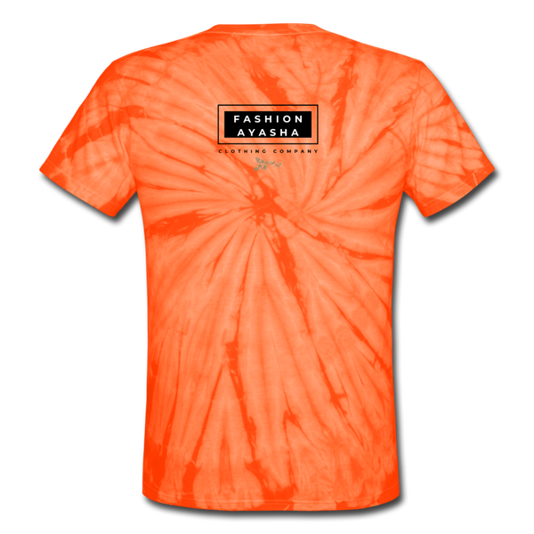 Scary Spider Unisex Tie Dye T-Shirt - spider orange