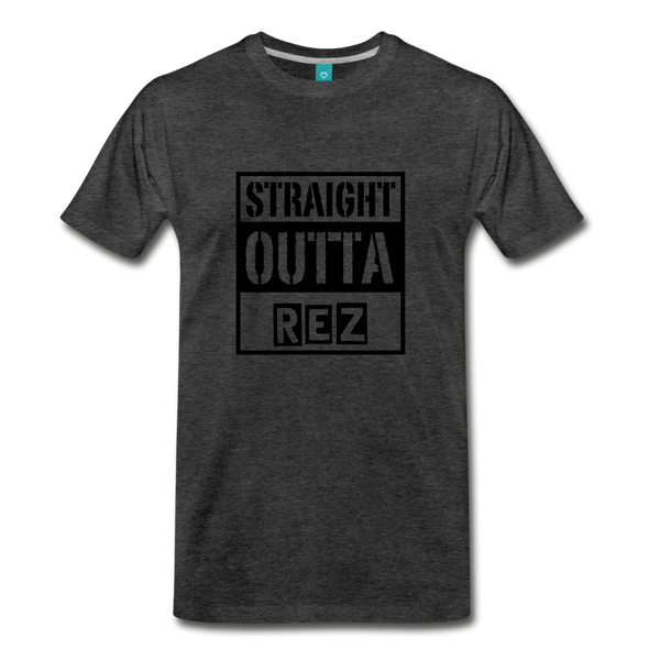 Straight Outta REZ Men's Premium T-Shirt - charcoal gray