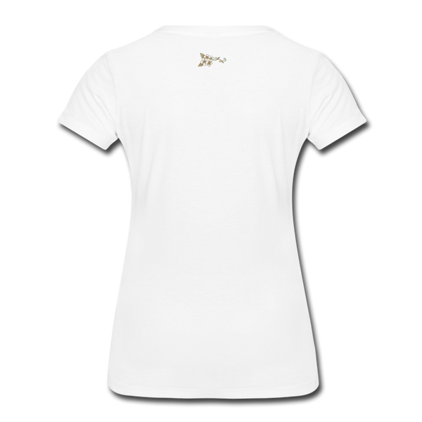 Women's Premium T-Shirt Heart Arrow Ayasha Flower - white