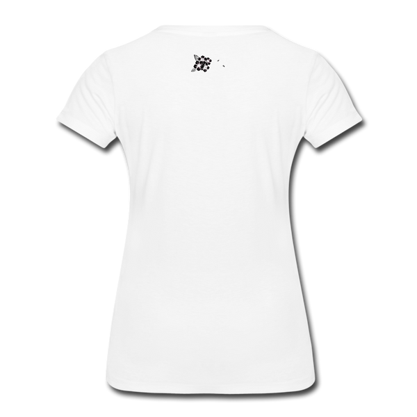 Straight Outta Rez Women's Premium T-Shirt - white