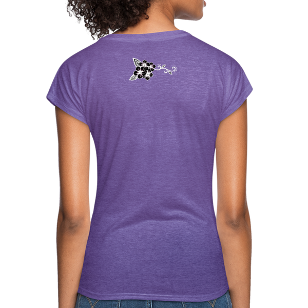 Bead Hard of Go Home Women's Tri-Blend V-Neck T-Shirt - purple heather