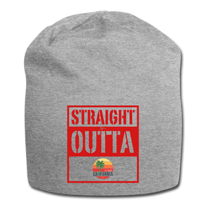 Straight Outta Los Angeles California Jersey Beanie - heather gray