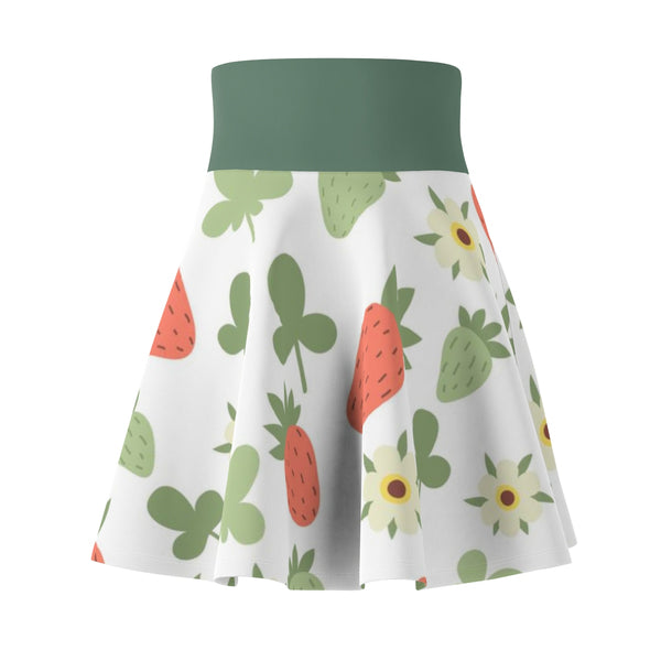 Women's Skirt with Ayasha Strawberry Print