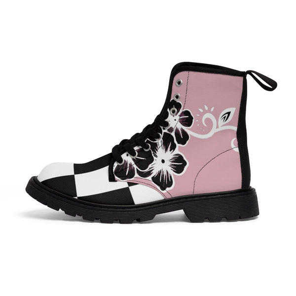 Women's Fashion Pink Boots - https://www.ayashaloyadesigns.com/collections/indigenous-woodlands-collection-of-shoes