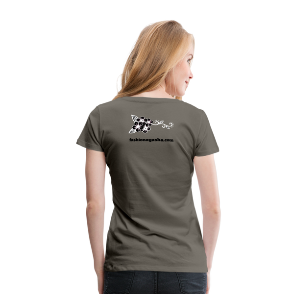 Best Friend 2 Women's Premium T-Shirt - asphalt gray