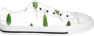 Sage Spring Pattern White Low Tops