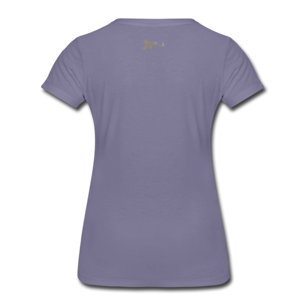 American Flag Women's Premium T-Shirt - washed violet