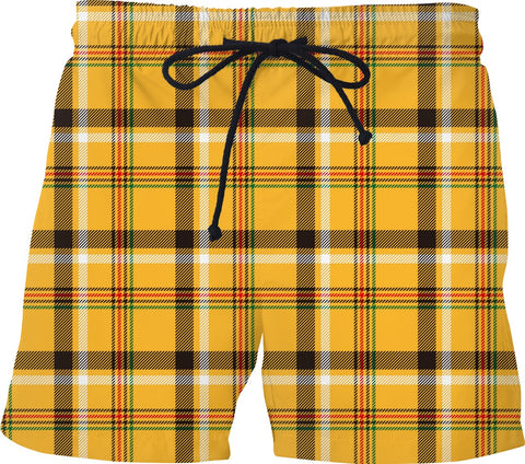 Yellow Check Plaid Men's Shorts - https://www.ayashaloyadesigns.com/products/yellow-check-plaid-mens-shorts