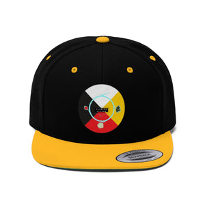 Fashion Ayasha Medicine Wheel Logo Unisex Flat Bill Hat