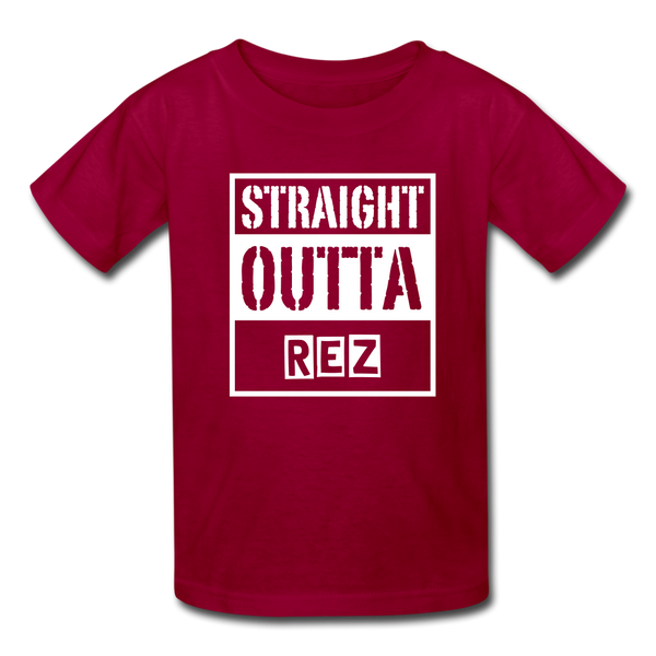 Straight Outta Rez Kids' T-Shirt - dark red