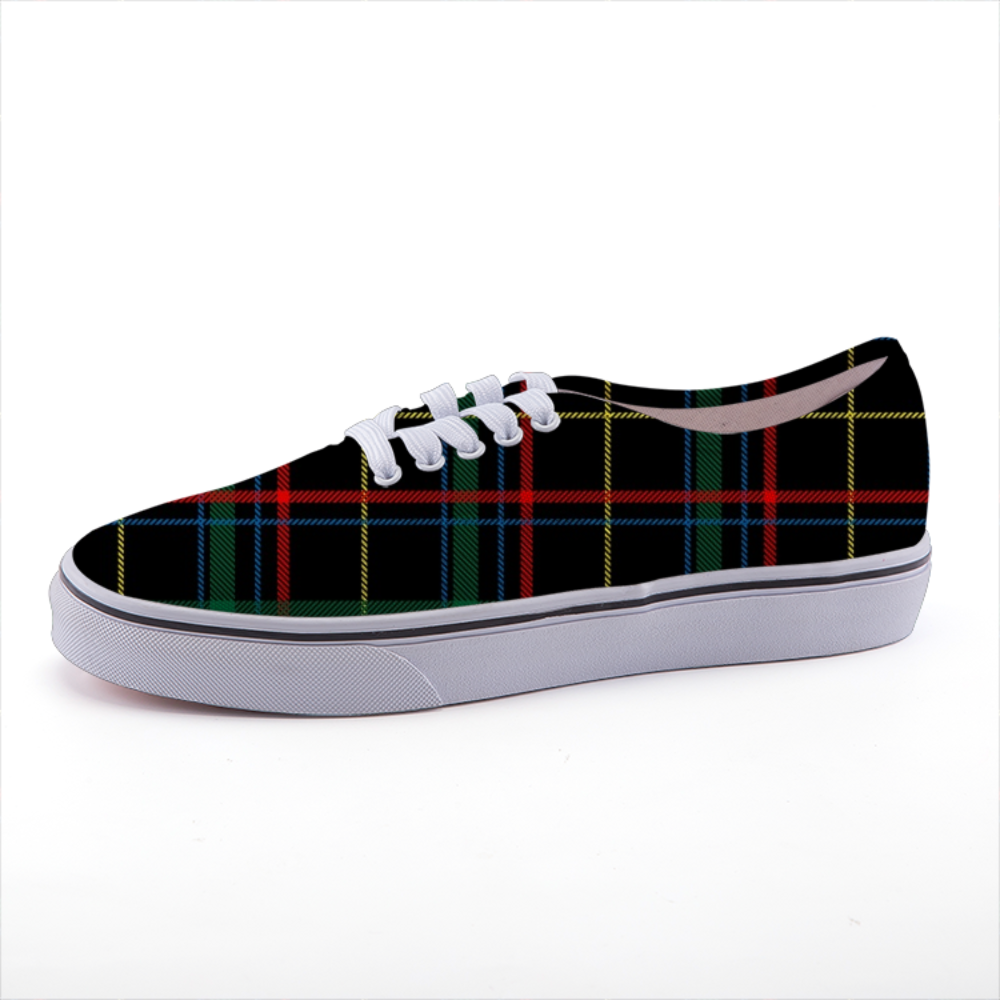 Vintage Check Plaid Low-top fashion canvas shoes