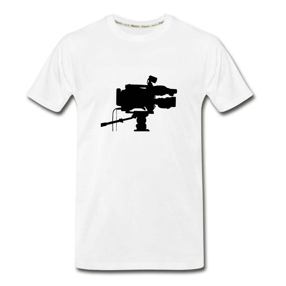 Film Director Film Camera Men's Premium Organic T-Shirt - white