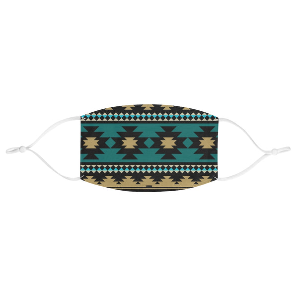 Southwest Teal and Black Fabric Face Mask
