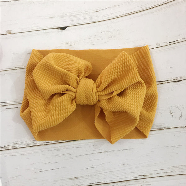yellow baby hair bow