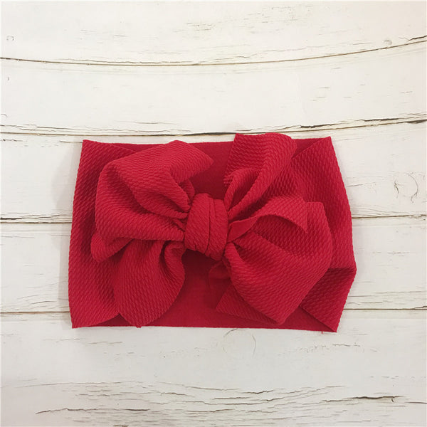 baby red hair bow