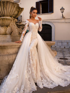 Princess Wedding Dress with Detachable Train