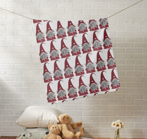 Baby Gnome Christmas Elf Fleece Baby Blanket