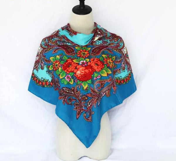 Fashion Ayasha Long Floral Scarf